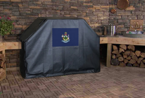 Maine State Flag Grill Cover