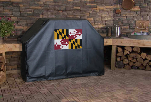 Maryland State Flag Grill Cover