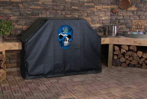 Michigan State Flag Skull Grill Cover