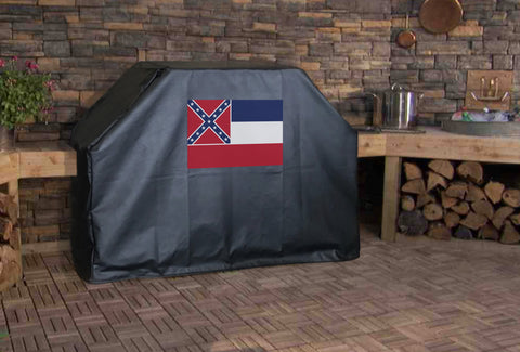 Mississippi State Flag Grill Cover