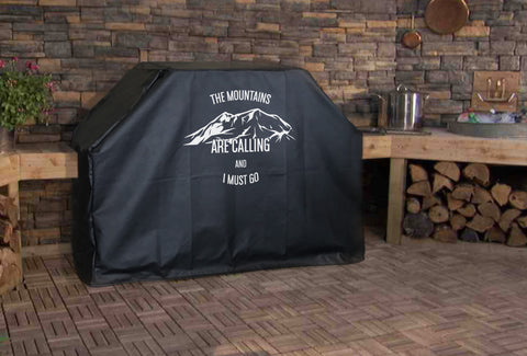 Mountains Are Calling Grill Cover