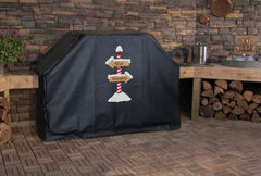Naughty or Nice North Pole Grill Cover