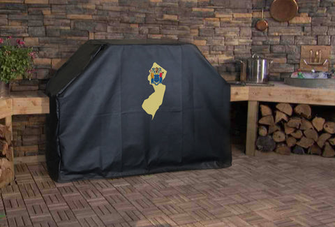 New Jersey State Outline Flag Grill Cover