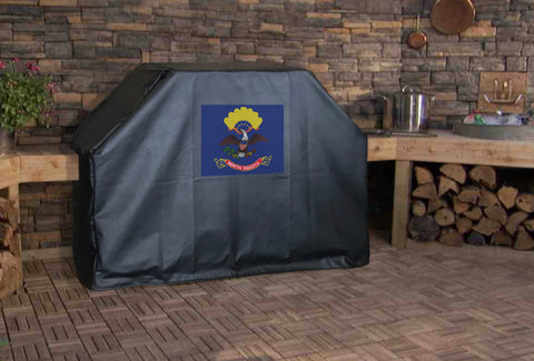 North Dakota State Flag Grill Cover