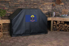 North Dakota State Outline Flag Grill Cover