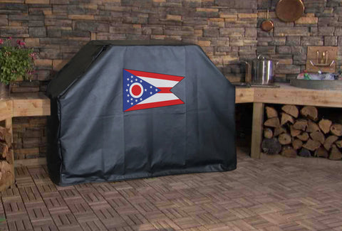 Ohio State Flag Grill Cover