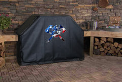 Patriotic Skull Fire Fighter Axes Grill Cover