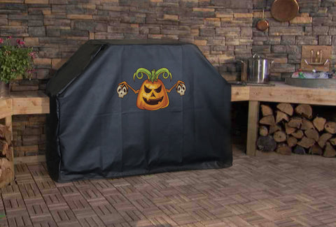 Pumpkin and Skulls Grill Cover