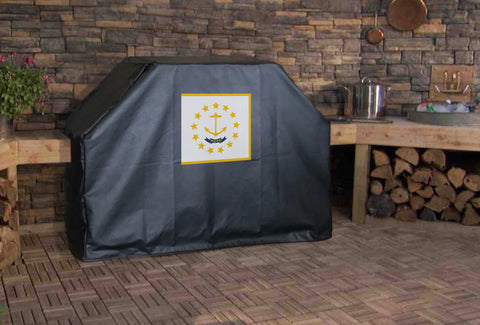 Rhode Island State Flag Grill Cover