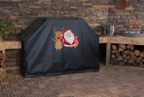 Santa and Rudolph Grill Cover