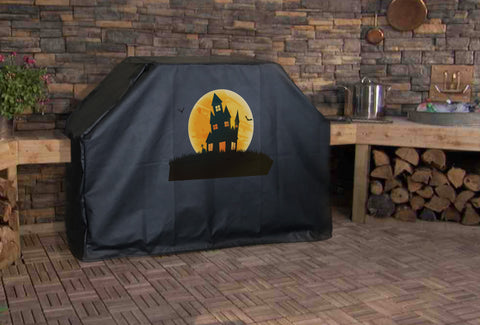 Haunted House Grill Cover