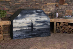 Surfaced Submarine Custom Grill Cover