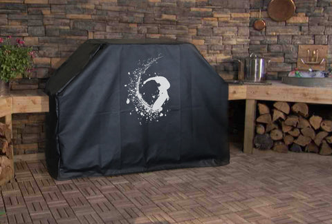 Surfing a Wave Grill Cover