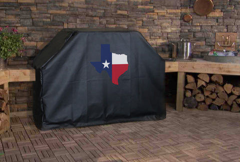 Texas State Outline Flag Grill Cover