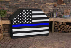 Thin Blue Line American Flag Full Size Grill Covers