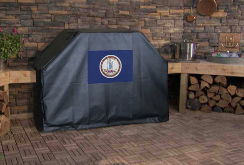 Virginia State Flag Grill Cover