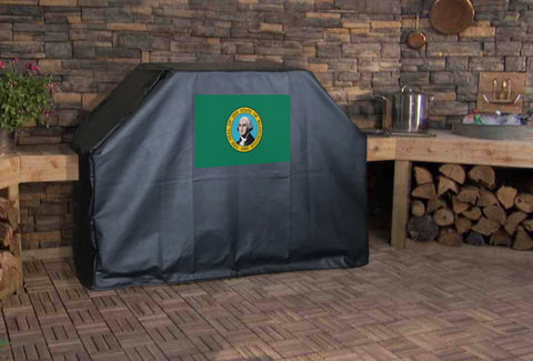 Washington State Flag Grill Cover