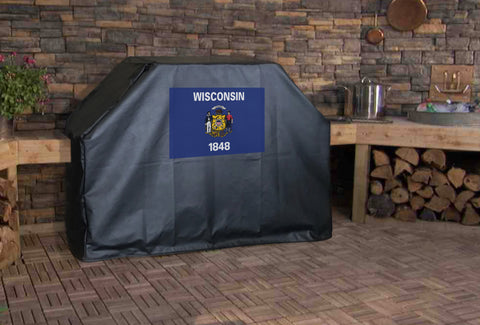 Wisconsin State Flag Grill Cover