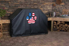 American Flag Dog Paw Grill Cover Custom Size
