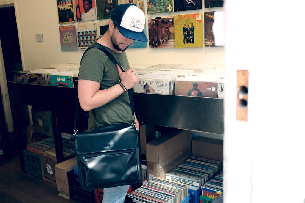 Record Shopping with the KURO Record Collector Bag