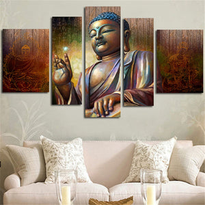 UNFRAMED MODULAR BUDDHA CANVAS PAINTING