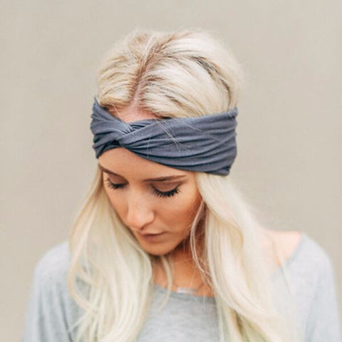 Knotted Twist Cotton Yoga Hairband