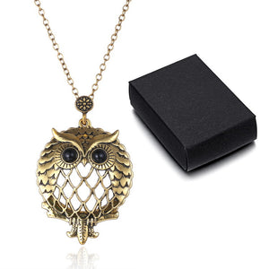 NEW ARRIVAL - OWL MAGNIFYING GLASS NECKLACE