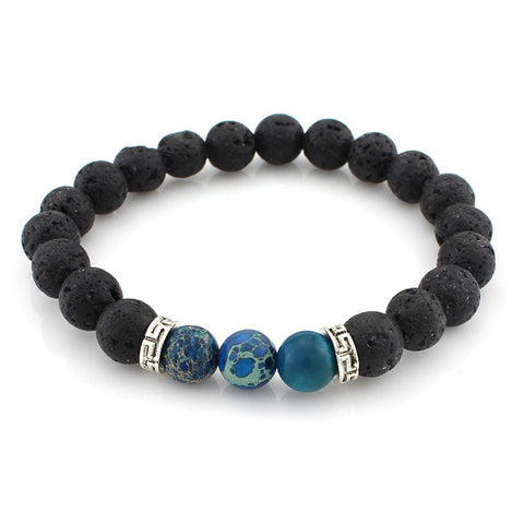 8mm Energy Lava Stone Beaded Yoga Bracelet (sold separately)