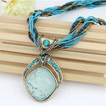 Vintage Bohemian Crystal Pendant Necklace