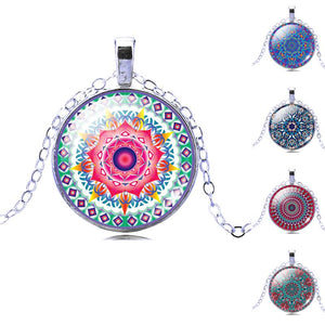 Vintage Buddhism Mandala Yoga Pendant Necklace