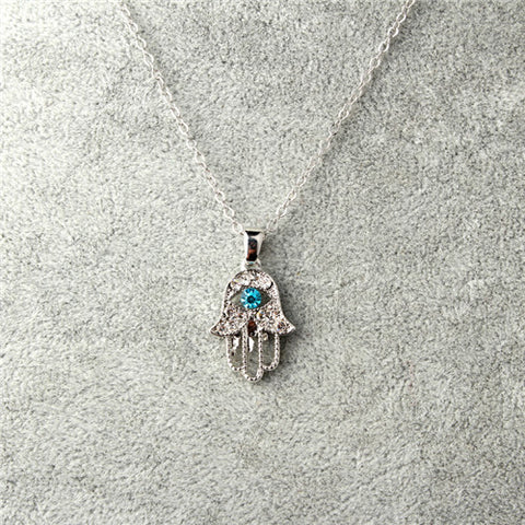 HAMSA EYE PENDANT NECKLACE