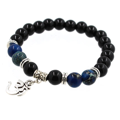 8mm Natural Stone Yoga Bracelet