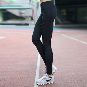 FLASH SALE: Women's Trendy Pleated Mesh Yoga Pants - Only While Stocks Last!