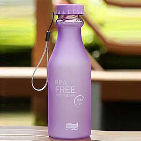 Candy Colours Unbreakable Frosted Leak-proof BPA Free Yoga Water Bottle