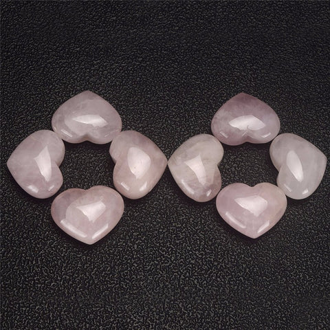 2 Heart-Shaped Rose Quartz Love Stones