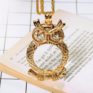 NEW ARRIVAL OWL PENDANT MAGNIFYING GLASS