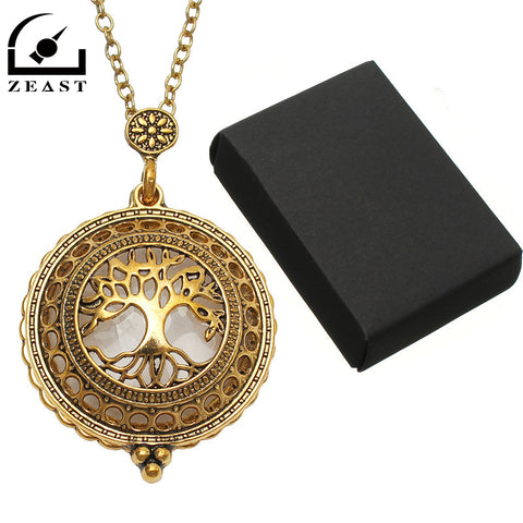 TREE OF LIFE MAGNIFYING GLASS PENDANT NECKLACE