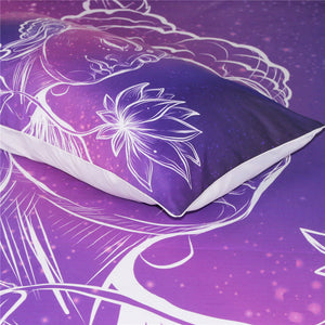 PURPLE BUDDHA BEDDING SET
