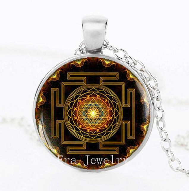 Sri Chakra Sacred Buddhist Crystal Necklace