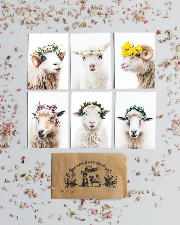 Handpicked for you - set of 6 Postcards