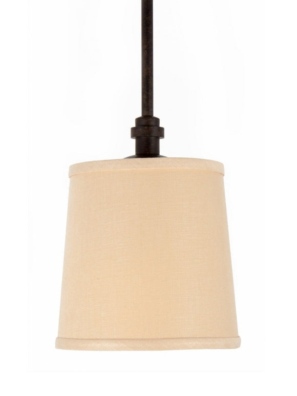 UpgradeLights Beige 7 Inch Retro Drum Shade for Glass Lighting Pendant