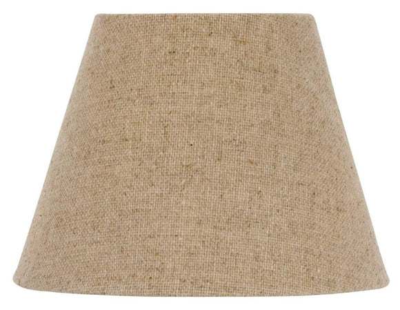UpgradeLights European Drum Style Chandelier Lamp Shade 6 Inch Beige Linen Clips Onto Bulb