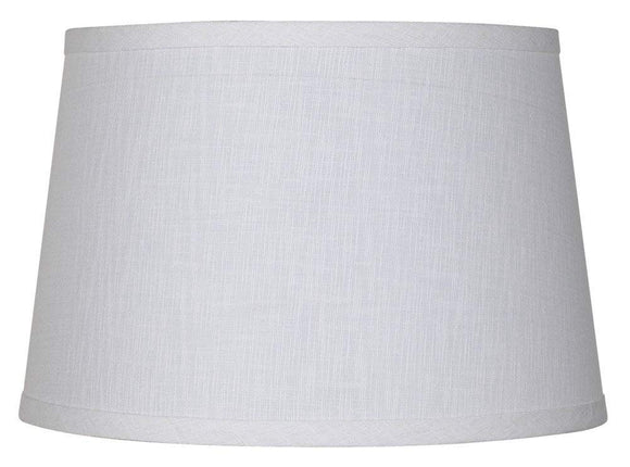UpgradeLights White Linen 16 Inch Retro Drum Floor or Table Lampshade Replacement