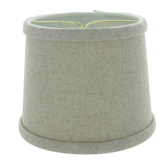6 inch Beige Linen Drum Shaped Chandelier Lampshade