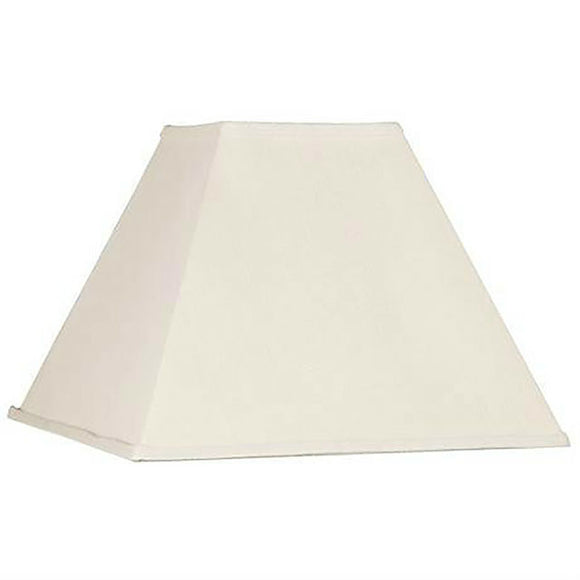 Upgradelights Eggshell Silk Square Mission Style 8 Inch Nickel Clip On Lampshade