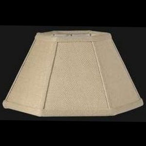 UpgradeLights Beige Linen 14 Inch Hex Shaped Chimney Style Oil Lampshade Replacement