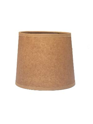 Oiled Parchment 6 Inch Tapered Drum Clip On Chandelier Shade 5x6x5