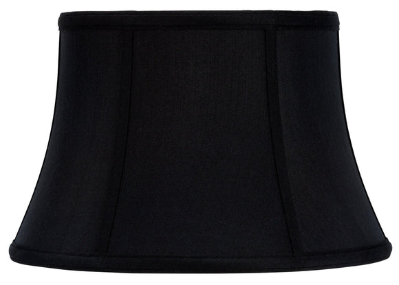 UpgradeLights 12 Inch Modified Bell Shaped Black Uno Silk Lamp Shades with Gold Lining