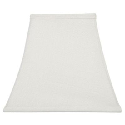 White Silk 10 Inch Square Bell Candlestick Lampshade with Washer Fitter 5x10x8.75
