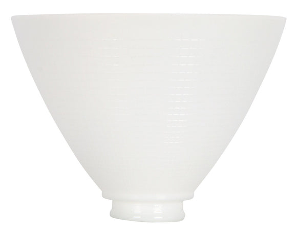 UpgradeLights White Opal Glass 8 Inch Reflector Floor Lampshade Replacement